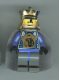 Minifig No: cas274  Name: Knights Kingdom II - King Mathias with Light Bluish Gray Cape (Chess King)