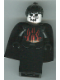 Minifig No: cas278  Name: Knights Kingdom II - Queen with Evil Skull Face, Black Ponytail Hair, Black Cape (Chess Queen)