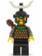 Minifig No: cas279  Name: Knights' Kingdom I - Gilbert the Bad, Black Dragon Helmet, Horn, with Quiver