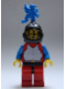 Minifig No: cas280a  Name: Breastplate - Red with Blue Arms, Red Legs with Black Hips, Black Grille Helmet, Blue Dragon Plume