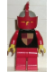 Minifig No: cas282  Name: Classic - Knights Tournament Knight Black, Red Legs, Light Gray Helmet, Red Visor