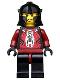 Minifig No: cas283  Name: Knights Kingdom II - Shadow Knight, Adventurer Head (Chess Pawn)