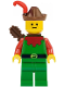 Minifig No: cas284  Name: Forestman - Red, Brown Hat, Red Feather, Quiver