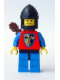Minifig No: cas288  Name: Crusader Axe - Blue Legs with Black Hips, Black Chin-Guard, Quiver