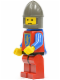 Minifig No: cas289  Name: Crusader Lion - Red Legs with Black Hips, Dark Gray Chin-Guard, Blue Plastic Cape