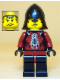 Minifig No: cas291  Name: Knights Kingdom II - Shadow Knight Vladek, Black Neck-Protector (5998)