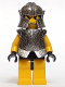 Minifig No: cas299  Name: Knights Kingdom II - Rogue Knight 2 (Yellow Legs, Speckle Breastplate, Speckle Cheek Protector Helmet)