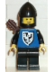 Minifig No: cas301  Name: Black Falcon - Black Legs, Black Chin-Guard, Quiver (old style torso with rounder bottomed shield)