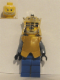 Minifig No: cas302  Name: Breastplate - Armor over Dark Bluish Gray, King