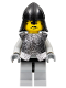 Minifig No: cas304  Name: Breastplate - Armor over Light Bluish Gray, Black Neck-Protector, Black Moustache