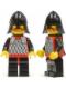 Minifig No: cas318  Name: Scale Mail - Red with Black Arms, Black Legs with Red Hips, Black Neck-Protector, Black Plastic Cape