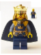 Minifig No: cas332  Name: Fantasy Era - Crown King with Cape
