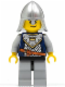 Minifig No: cas337  Name: Fantasy Era - Crown Knight Scale Mail with Crown, Helmet with Neck Protector, Scowl