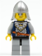 Minifig No: cas342  Name: Fantasy Era - Crown Knight Scale Mail with Crown, Helmet with Neck Protector, Smirk and Stubble Beard
