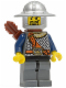 Minifig No: cas345  Name: Fantasy Era - Crown Knight Scale Mail with Chest Strap, Helmet with Broad Brim, Curly Eyebrows and Goatee, Quiver
