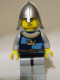 Minifig No: cas362  Name: Fantasy Era - Crown Knight Quarters, Helmet with Neck Protector, Scowl