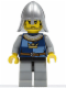 Minifig No: cas366  Name: Fantasy Era - Crown Knight Quarters, Helmet with Neck Protector, Black Messy Hair and Stubble