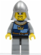 Minifig No: cas367  Name: Fantasy Era - Crown Knight Quarters, Helmet with Neck Protector, 3 Spots under Left Eye