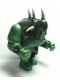 Minifig No: cas376  Name: Big Figure - Fantasy Era - Troll, Sand Green with Pearl Dark Gray Armor, 2 White Horns and 3 Pearl Light Gray Horns