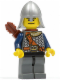 Minifig No: cas383  Name: Fantasy Era - Crown Knight Scale Mail with Chest Strap, Helmet with Neck Protector, Dual Sided Head, Quiver