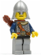 Minifig No: cas385  Name: Fantasy Era - Crown Knight Scale Mail with Chest Strap, Helmet with Neck Protector, Dual Sided Head