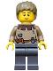 Minifig No: cas410  Name: Fantasy Era - Peasant Male Young, Brown Eyebrows, Thin Grin