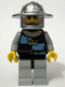 Minifig No: cas418  Name: Fantasy Era - Crown Knight Quarters, Helmet with Broad Brim, Black Messy Hair and Stubble