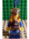 Minifig No: cas425  Name: Fantasy Era - Crown King, No Cape, Printed Legs, Dark Blue Plume