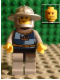 Minifig No: cas426  Name: Fantasy Era - Crown Knight Quarters, Helmet with Broad Brim, Vertical Cheek Lines