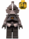Minifig No: cas434  Name: Fantasy Era - Crown Knight Plain with Breastplate, Helmet with Visor, Curly Eyebrows and Goatee, Black Hips, Dark Bluish Gray Legs