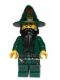 Minifig No: cas435  Name: Kingdoms - Dark Green Wizard