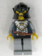 Minifig No: cas436  Name: Fantasy Era - Crown Knight Scale Mail with Crown, Speckle Black-Silver Helmet, Angry Eyebrows (Castle Watch)