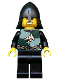 Minifig No: cas439  Name: Kingdoms - Dragon Knight Quarters, Helmet with Neck Protector, Bared Teeth
