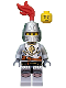 Minifig No: cas440  Name: Kingdoms - Lion Knight Breastplate with Lion Head and Belt, Helmet Closed, Smirk and Stubble Beard