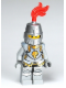Minifig No: cas443  Name: Kingdoms - Lion Knight Armor with Lion Head and Belt, Helmet Closed, Gray Beard