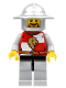 Minifig No: cas445  Name: Kingdoms - Lion Knight Quarters, Helmet with Broad Brim, Brown Beard Rounded