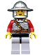 Minifig No: cas447  Name: Kingdoms - Lion Knight Scale Mail with Chest Strap and Belt, Helmet with Broad Brim, Vertical Cheek Lines