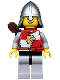 Minifig No: cas449  Name: Kingdoms - Lion Knight Quarters, Helmet with Neck Protector, Quiver, Open Grin