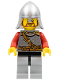 Minifig No: cas450  Name: Kingdoms - Lion Knight Scale Mail with Chest Strap and Belt, Helmet with Neck Protector, Brown Beard Rounded