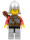 Minifig No: cas451  Name: Kingdoms - Lion Knight Scale Mail with Chest Strap and Belt, Helmet with Neck Protector, Quiver, Smirk and Stubble Beard