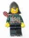 Minifig No: cas457  Name: Kingdoms - Dragon Knight Scale Mail with Chain and Belt, Helmet with Neck Protector, Quiver, Bared Teeth