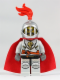 Minifig No: cas459  Name: Kingdoms - Lion Knight Breastplate with Lion Head and Belt, Helmet with Fixed Grille, Cape