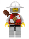 Minifig No: cas474  Name: Kingdoms - Lion Knight Quarters, Helmet with Broad Brim, Quiver, Open Grin