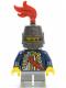 Minifig No: cas476  Name: Red Sash, Helmet Closed, Light Bluish Gray Legs Short (9349)