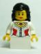 Minifig No: cas477  Name: Kingdoms - Princess, Black Hair