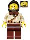 Minifig No: cas491  Name: Kingdoms - Peasant, Male with Dark Brown Hood