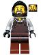 Minifig No: cas492  Name: Kingdoms - Blacksmith with Dark Brown Apron