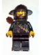 Minifig No: cas494  Name: Kingdoms - Dragon Knight Scale Mail with Chain and Belt, Helmet with Broad Brim, Quiver, Missng Tooth