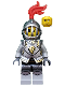 Minifig No: cas499  Name: Kingdoms - Lion Knight Armor with Lion Head, Helmet with Fixed Grille