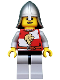 Minifig No: cas501  Name: Kingdoms - Lion Knight Quarters, Helmet with Neck Protector, Open Grin